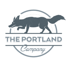 Logo for The Portland Company with a Coyote